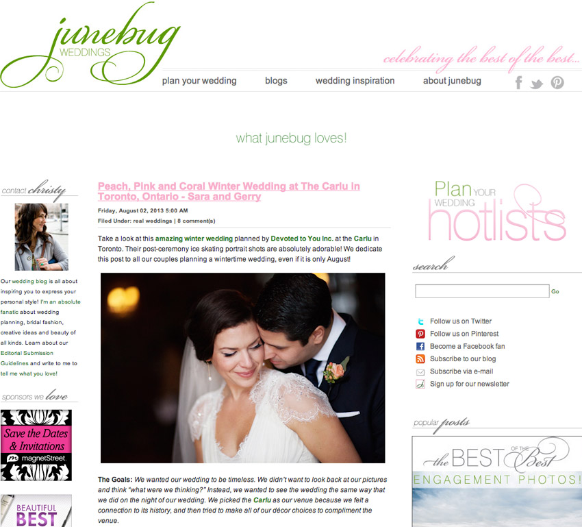 Jenna Tristan Junebug Weddings