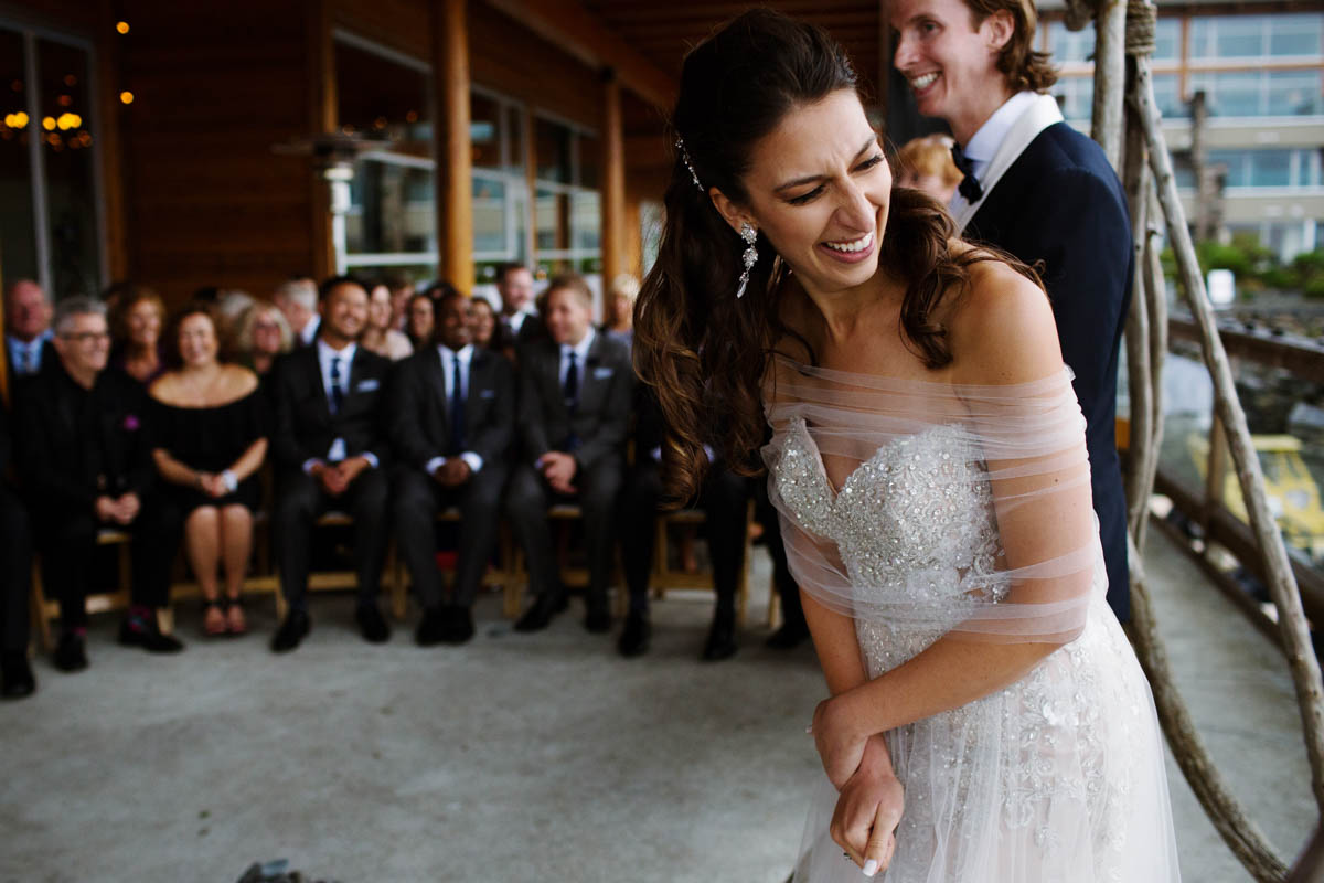 Striking West Coast Wedding At The Shore Pier In Tofino Bc